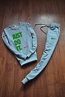 Мужской  серый спортивный костюм Nike Just Do It зелёный