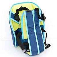 Гр Рюкзак-кенгуру №7 (1) сидя,цвет синий.Предназначен для детей с трехмесячного возраста
