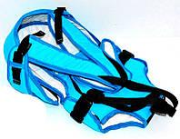 Гр Рюкзак-кенгуру №8 (1) лёжа,цвет голубой.Предназначен для детей с двухмесячного возраста