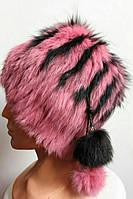 Женская шапка с бубоном 3011