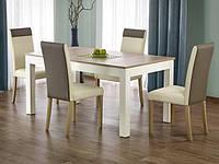 Раздвижной обеденный деревянный стол Halmar Seweryn дуб sonomа/белый