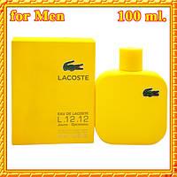 Lacoste Eau De Lacoste L.12.12 Yellow Jaune for Men, 100 мл., edt, Желтые