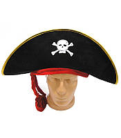 "Шляпа пирата с красной повязкой  ""Karnaval"" LZ-1408"""