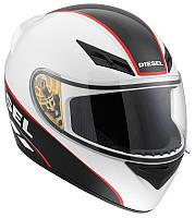 Мотошлем DIESEL Full Jack Logo белый черный красный S