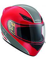 Мотошлем DIESEL Full Jack Logo красный металл серый S