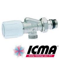 Icma 2-х угловой терморегулирующий вентиль с ручным и термостатическим управлением 1/2*1/2 869