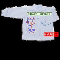 Детская кофточка р. 80 с начесом  демисезонная ткань ФУТЕР 100% хлопок ТМ Алекс 3222 Голубой