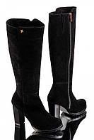 Сапоги женские модные на каблуке замшевые GL 8040