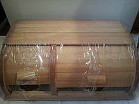 Деревянная хлебница на два отдела