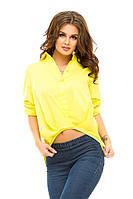 Рубашка женская укороченный перед, фото 1