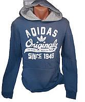 Толстовка мужская на флисе с капюшоном Adidas