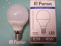 Светодиодная лампа (шарик Р45) Feron LB-380 E14 4W 2700K  для общего и декоративного освещения