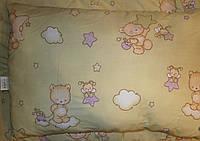 """Одеяло и подушка (набор)  для новорожденных в кроватку- """"Мишка на облаке"""""""