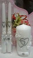 """Комплект свадебный свечей """"Семейный очаг"""" белый"""