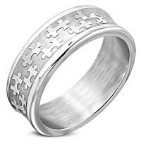 """Мужское кольцо из стали """"Puzzle"""", в наличии 18.0, 19.0, 20.0, 20.7"""