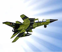 Картонная модель Самолёт истребитель Tornado зеленый 189-01 УмБум