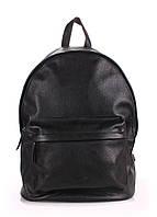 Кожаный рюкзак Poolparty черный натуральная кожа