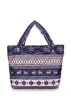 Дутая сумка Poolparty с зимним принтом Олени