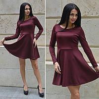 Женское приталенное платье с расклешенной юбкой i-45031949