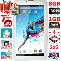 GPS Навигатор 3G Планшет Samsung Tab 7 HD 7 дюймов 1024 х 600 2 cим ОЗУ 1 Гб Flash 8 Гб 3000 mAh OTG Подарки
