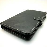 Чехол книжка клавиатура для планшета Самсунг 7 дюймов micro USB Черный