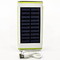 Внешний аккумулятор Water Cube (Зеленый) на солнечных батареях павер банк usb юсб