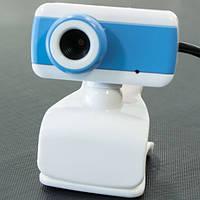 Веб камера для компьютера с микрофоном WC 512 webcam для скайпа (Голубой)