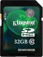 Карта памяти Kingston 32 GB SDHC class 10 для видеорегистратора ноутбука компьютера