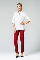 Классические бордовые брюки с завышенной талией