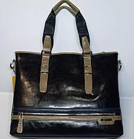 Мужская сумка портфель Bally, черный цвет