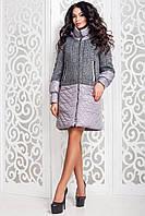 Женское демисезонное пальто с капюшоном в 3х цветах В-972