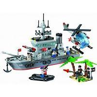 Конструктор BRICK 820 Военный корабль, крейсер, 614 деталей