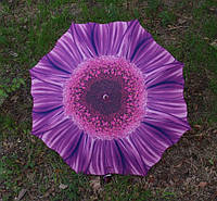 Женский зонт трость Toprain в форме цветка с закругленной ручкой, механика