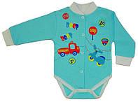 Боди-кофта детская на кнопках 56/62 см голубой