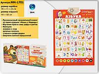 """Интерактивный плакат Маша и медведь """"Хочу учиться!"""" Азбука MM-1701"""