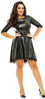 Платье женское полубатал екокожа кружево, фото 1