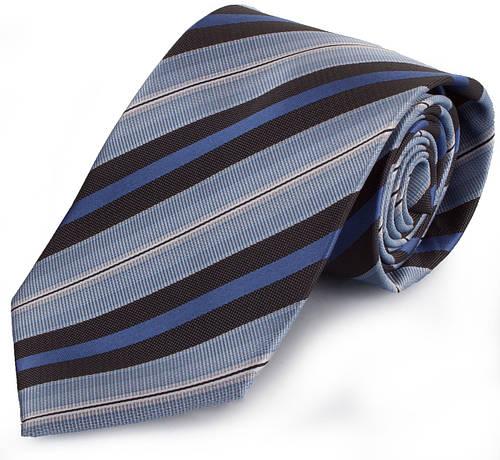 Солидный мужской широкий галстук SCHONAU & HOUCKEN (ШЕНАУ & ХОЙКЕН) FAREPS-72 синий