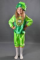 Детский костюм Капусты Листика на праздник Осени. Карнавальный маскарадный костюм для девочек и мальчиков