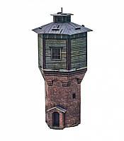 """Сборная модель из картона """"Водонапорная башня"""". Масштаб 1/87"""