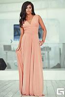 Платье в пол в греческом стиле с декольте