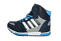Кроссовки Зимние Adidas ZX 700 Blue  White