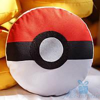 Подушка игрушка Покебол из покемонов 25 см