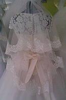 Свадебная кружевная фата с кордового шантильэ (Ф-Кд-11) айвори