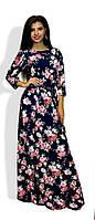 Платье женское в пол цветы