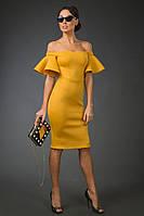 Платье женское рюши на плечах, фото 1