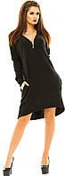 Платье женское  ангора молния теплое пояс