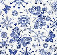 Салфетка декупажная Кружевные бабочки 5199