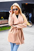 Демисезонное короткое кашемировое прямое пальто