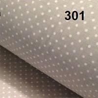 Постельная ткань с белым горохом на сером 4мм ( №301)