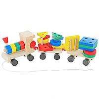 Конструктор Мир деревянных игрушек Паровозик (Д018)